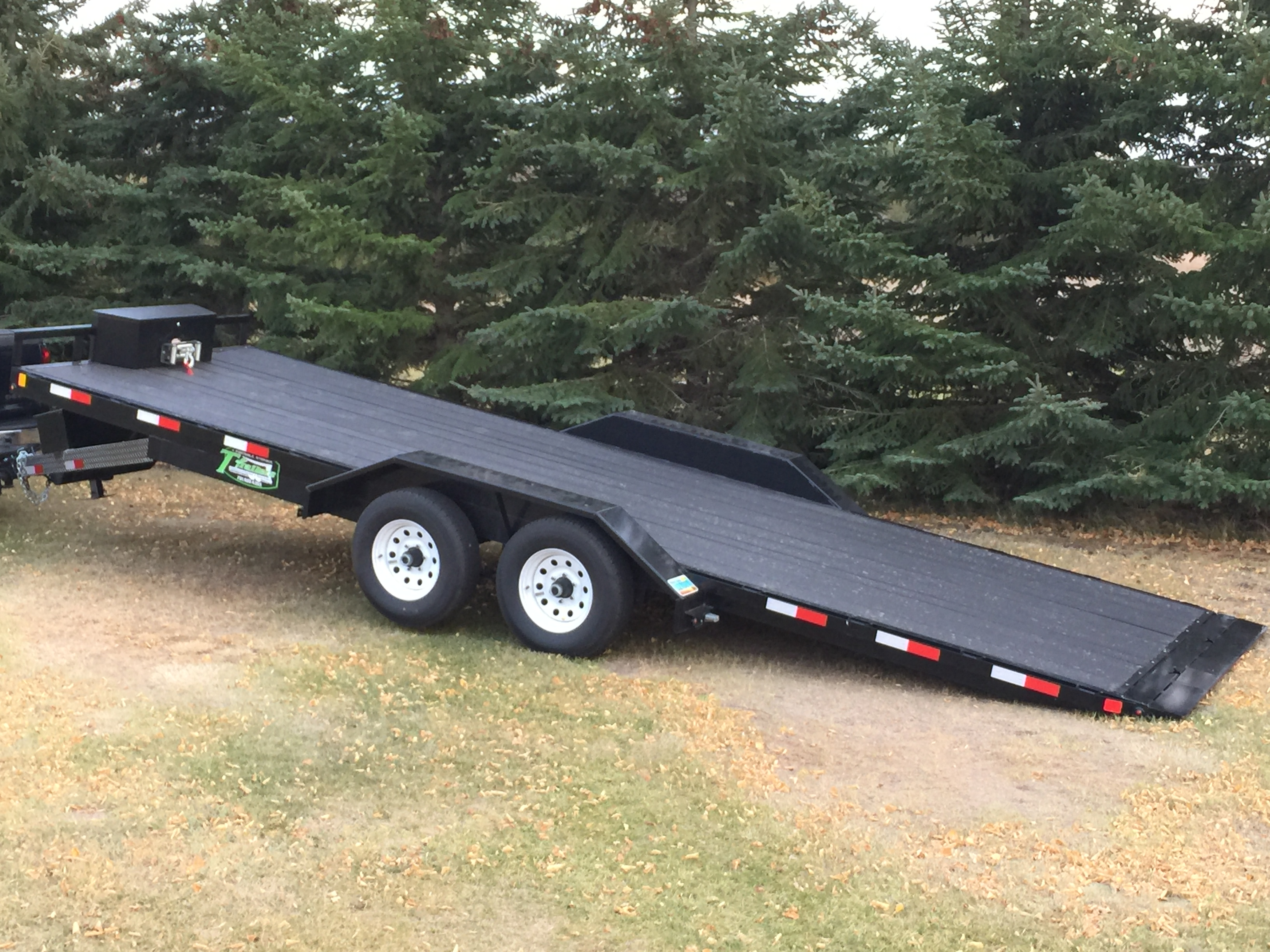 Car Trailer Winch >> Rental 22 6 Flatbed Car Trailer Power Tilt With Winch Drive Over Fenders